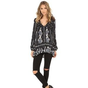 Free People 'Viole Bay' Boho Tunic Top Size Medium